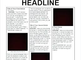 Write Your Own Newspaper Article Template Template Of A Newspaper Article Metabots Co