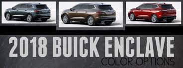 2018 Buick Enclave Color Options Palmen Buick Gmc Cadillac