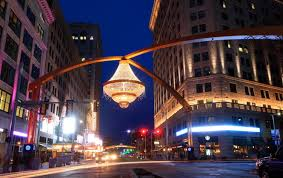 playhouse square s chandelier succeeds as an instant icon for cleveland s theater district cleveland com
