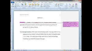 Formatting An Apa Reference List With Hanging Indent In Ms Word