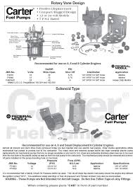 carter electric fuel pump wiring diagram great installation of carter marine electric fuel pumps solenoid and rotary design rh marineparts com 2001 mustang fuel pump