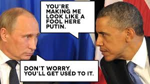 Image result for putin laughing at obama