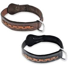 real genuine leather dog collar for medium and large pets handmade sz m neck 12 14 com
