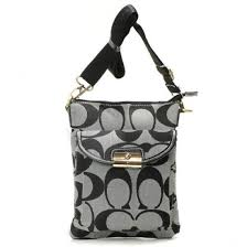 Coach Kristin Lock Small Grey Crossbody Bags 21550