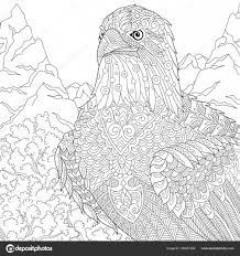 Zentangle Gestileerde American Eagle Mascotte Stockvector
