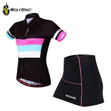 <b>WOSAWE Summer</b> Female Mini Skirt + <b>Shirt</b> Ropa Ciclismo <b>Cycling</b> ...