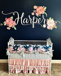 fl crib bedding set pink and navy girls crib set fl nursery bedding sets fl crib bedding