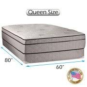 mattress and box spring queen. fifth ave plush foam encased eurotop (pillow top) mattress and box spring set ( queen