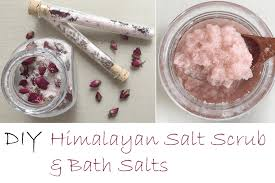 diy himalayan salt scrub and bath salts