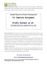sample on project management by global assignment help 4