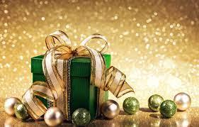 Wallpaper balls, gift, New Year ...