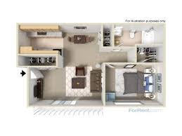 for the 1 bedroom apartment floor plan