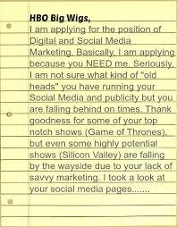 Epic Cover Letter Ever Hbo Cover Letter For Social Media