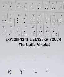 5 Senses The Braille Alphabet In Preschool Kindergarten