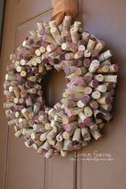 Create a wreath with wine corks.