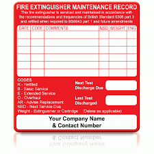 buy fire extinguisher maintenance labels white on red Fuse Box Fire Extinguisher Label personalised small fire extinguisher maintenance labels in red Fire Extinguisher Instruction Label