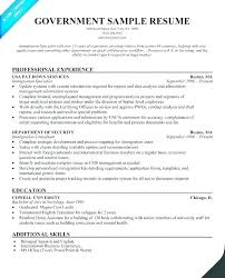Federal Government Resume Template – Custosathletics.co