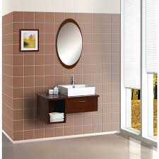 bathroom mirror frame tile. Unique Bathroom Mirror Frame Ideas Oval With Wooden On Faux Tile Wall Diy O