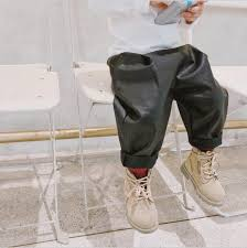 2018 hot ing boys girls thicken leather pants winter fashion kids long pants 1 7t pc623 pants