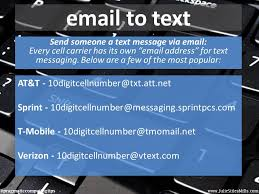 sending text message from email send someone a text via email email programs and send text message