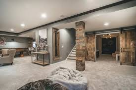 O Rustic Basement Family Room Ideas Court Finished Lower Level  For Designs 5 Home