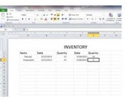 inventory spreadsheet with pictures how to create a basic inventory spreadsheet with excel techwalla com