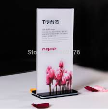 Menu Display Stands Restaurant 100Pieces Double Side Acrylic Table Display Stand Sign Billboard 82