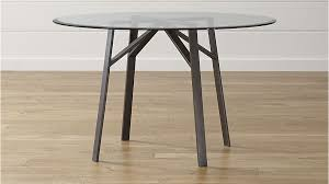interiors belden round dining table with 48 glass top for design 14