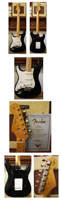 lark street music vintage guitars teaneck nj 2250 fender 56 relic stratocaster lefty 2001 black maple neck moderately heavy relic finish soft v neck certificate exc tweed case