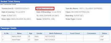 Pnr Status Indian Railways Pnr Enquiry