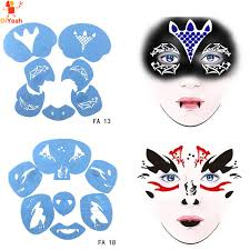 soft face paint stencil reusable template tattoo painting makeup tools eye diy design for