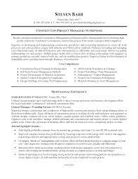 Construction Supervisor Resume Format Resume For Your Job