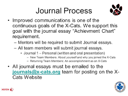 journal process improved communications is one of the continuous journal process improved communications is one of the continuous goals of the x cats