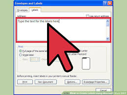 How To Create Labels Using Microsoft Word 2007 13 Steps