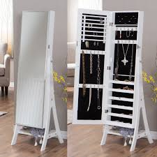 belham living white full length cheval mirror jewelry armoire with lock hayneedle