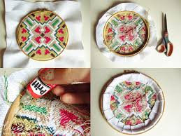 how to make an embroidery hoop frame
