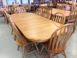 solid oak dining room sets jannamo com pertaining to decorations 8