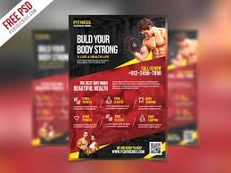 free photoshop wellness flyer fitness and gym flyer psd template psdfreebies com
