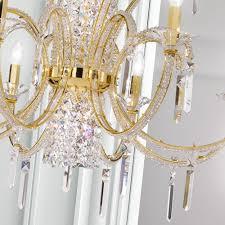 modern classic swarovski crystal gold chandelier