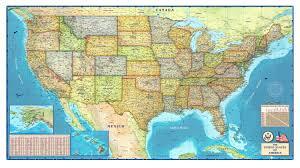 political map of the usa  mapscom