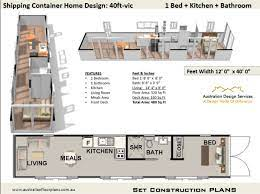 40 foot shipping conner home plan