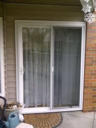 Doors: Raised Sliding Glass Patio Doors With Shades - Inspirational ...