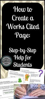 Works Cited Bibliography Mla Format Tpt Free Lessons
