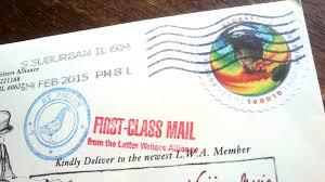 letter writers alliance postcard mail letter handwritten