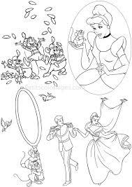 Coloriage Princesse Cendrillon Imprimer