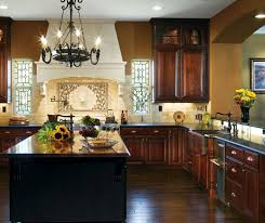 Small Picture Dark Cherry Cabinets in Traditional Kitchen Decora