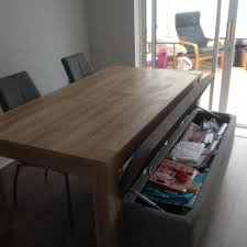 dining room storage bench. Wonderful Dining Permalink To Dining Table With Storage Bench To Room E