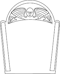 tombstone template printable co angel outline template nextinvitation templates