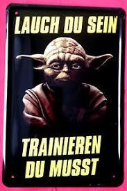 Blechschild 20x30 Meister Yoda Star Wars Spruch Trainieren Du Musst