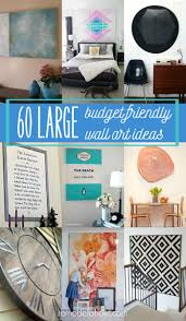 60 budget friendly ideas for high impact large wall art you can diy on room decor wall art diy with remodelaholic 60 budget friendly diy large wall decor ideas